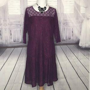 New York Collection size 1X purple women's dress